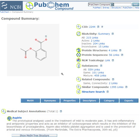 PubChem: Integrated Platform of Small Molecules and Biological ...