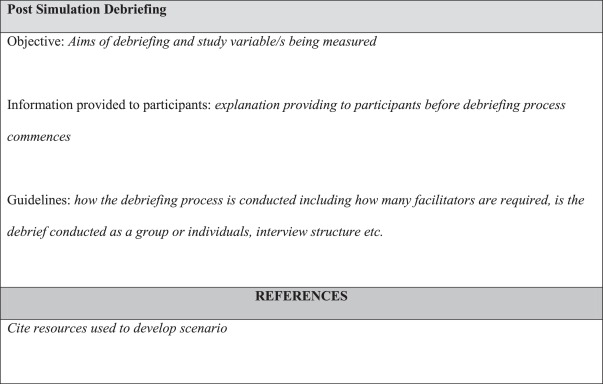 Designing and implementing full immersion simulation as a research appendix a simulated clinical scenario design template for use in research studies devised to inform simulation faculty and facilitate the consistent maxwellsz