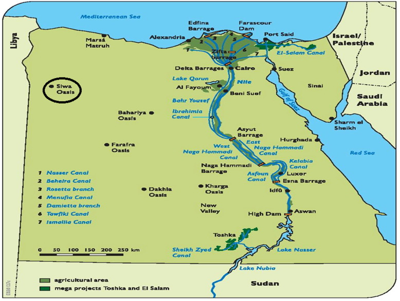 Longterm Detection And Hydrochemistry Of Groundwater Resources In - Map of egypt oasis