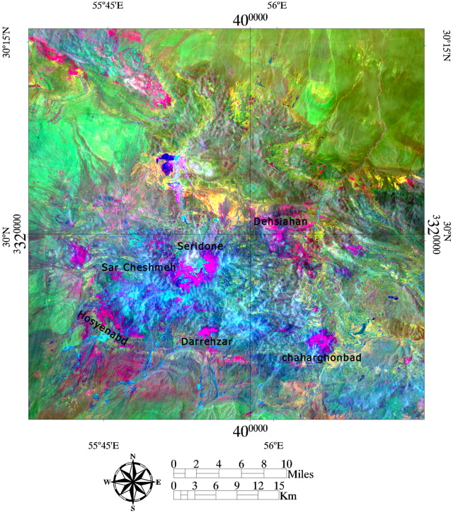 Hydrothermal alteration mapping from Landsat-8 data, Sar