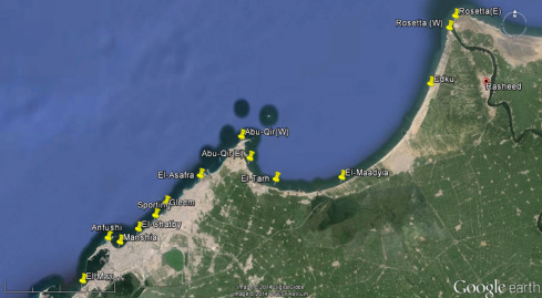 Radiological Characterization Of Beach Sediments Along The - Map of egypt before the sands