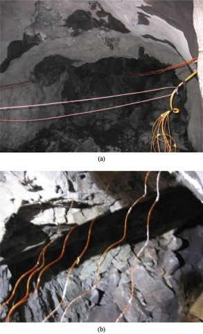 Failure of hanging roofs in sublevel caving by shock