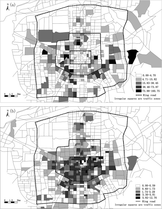 The Spatial Distribution Of Commuting Co2 Emissions And The