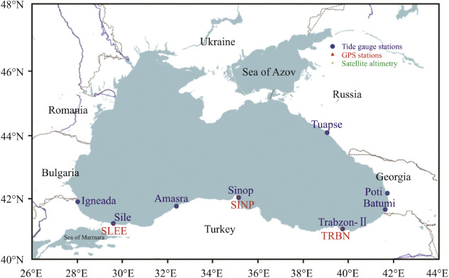 Sea level change along the Black Sea coast from satellite altimetry