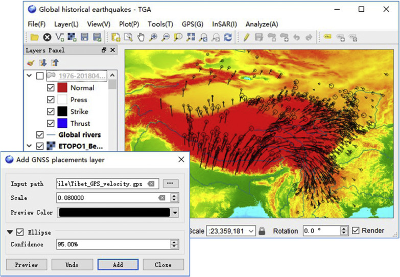 A tectonic geodesy mapping software based on QGIS