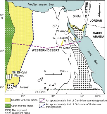 The Lower Paleozoic Rock Units In Egypt An Overview ScienceDirect - Map of zeitoun egypt