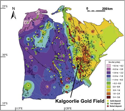Australia Map Kalgoorlie.The Giant Kalgoorlie Gold Field Revisited Sciencedirect