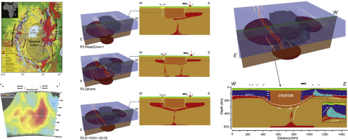 Contrasted continental rifting via plume-craton interaction