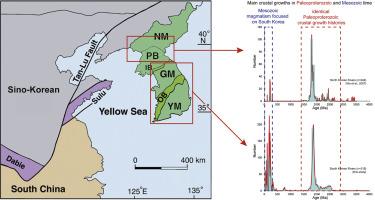 Map Of Asia Korean Peninsula.Crustal Growth History Of The Korean Peninsula Constraints From