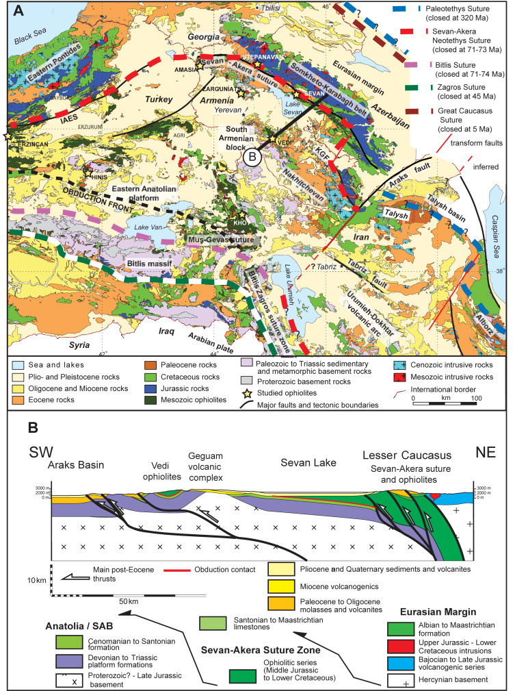 The East Anatolia Lesser Caucasus Ophiolite An Exceptional Case