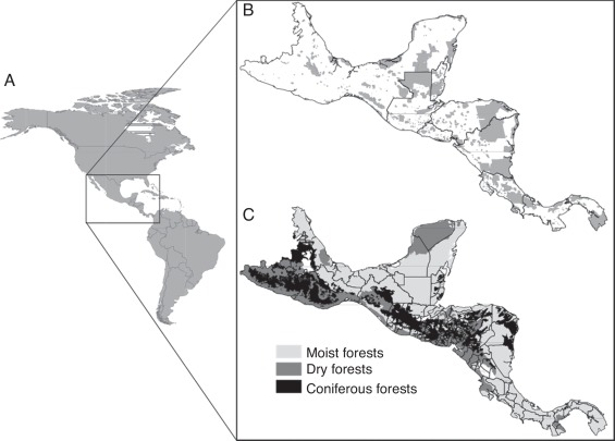 Supporting underrepresented forests in mesoamerica sciencedirect continent a used to capture the complete response curves of the target species the geographic distribution of the world database on protected areas gumiabroncs Image collections