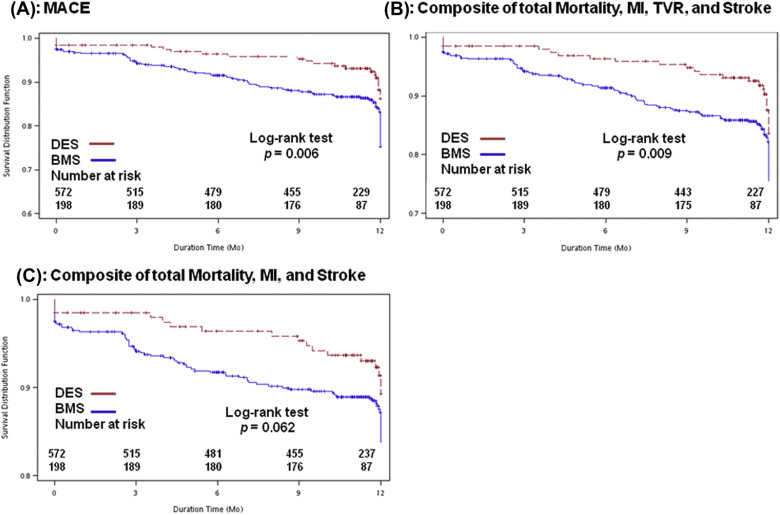 One-year cardiovascular outcomes of drug-eluting stent