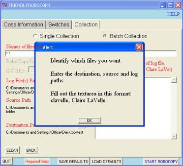 FriendlyRoboCopy: A GUI to RoboCopy for computer forensic
