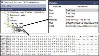 Study on the tracking revision history of MS Word files for