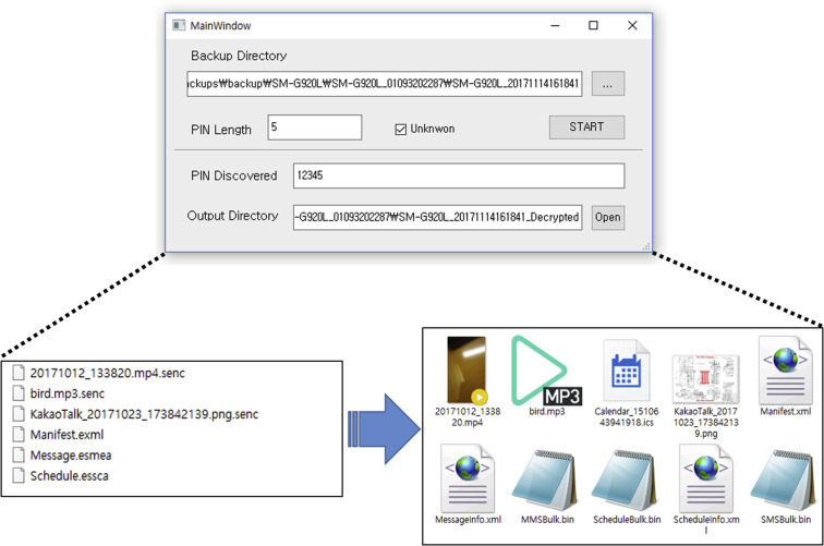 How to decrypt PIN-Based encrypted backup data of Samsung