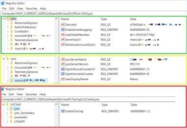 Forensic analysis of Microsoft Skype for Business