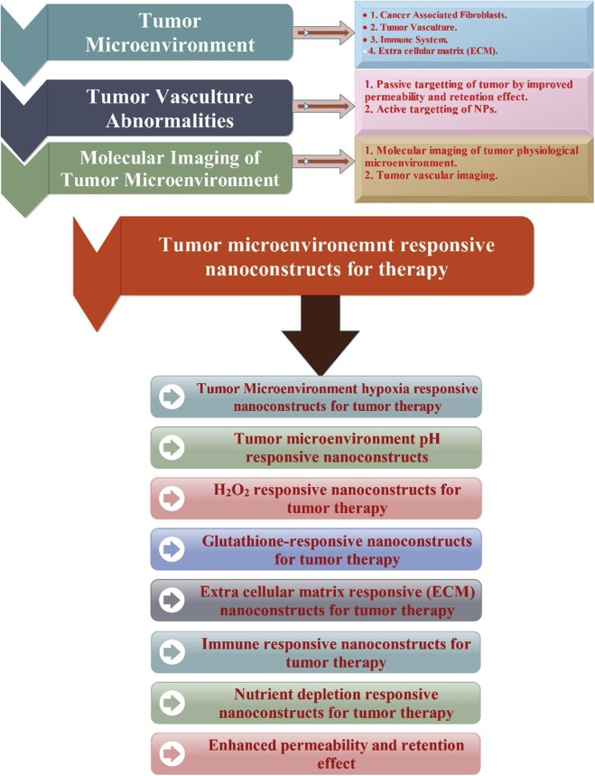 Tumour microenvironment responsive nanoconstructs for cancer