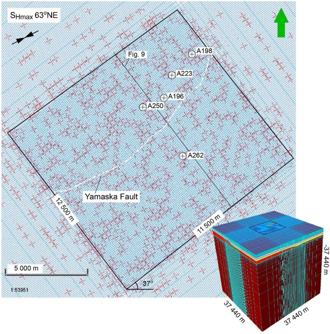 Strike Slip Reactivation Of A High Angle Normal Fault Induced By Increase Of Reservoir Pore Pressure Insight From 3d Coupled Reservoir Geomechanical Modeling Sciencedirect
