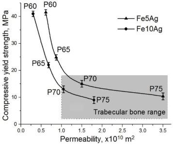 Biodegradable nanocomposite Fe–Ag load-bearing scaffolds for bone