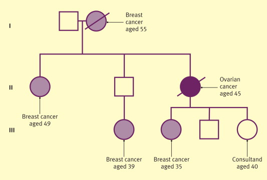 ovarian cancer history in family