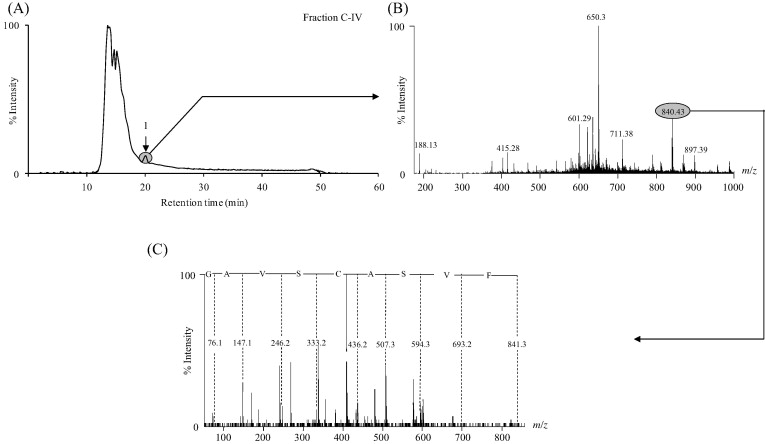 Isolation of antioxidative and ACE inhibitory peptides from