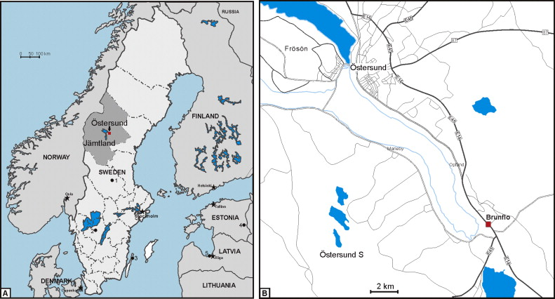 LowerMiddle Ordovician δC Chemostratigraphy Of Western Baltica - Jamtland sweden map