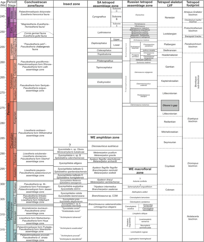 Late Paleozoicearly Mesozoic Continental Biostratigraphy