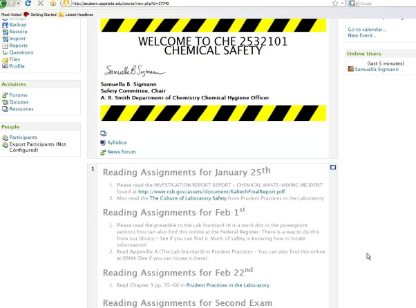 Incorporating the New American Chemical Society Safety Guidelines