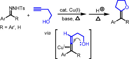 Cu(I)-catalyzed cascade reaction of N-tosylhydrazones with 3
