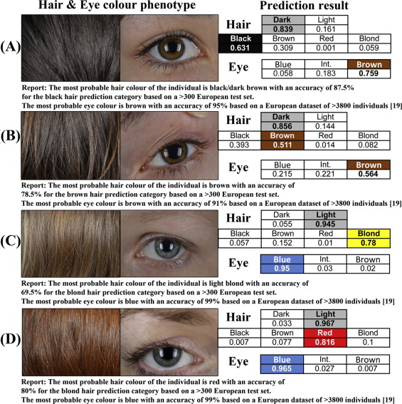 The Hirisplex System For Simultaneous Prediction Of Hair And Eye