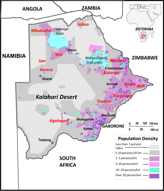 Polymorphisms at 17 Y-STR loci in Botswana populations