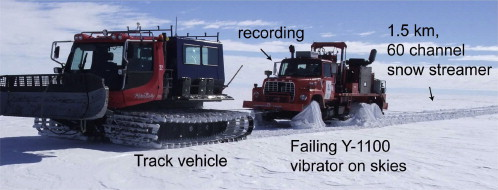 Conventional truck-mounted seismic vibrator