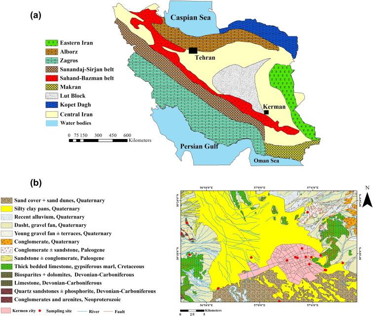 Geochemical provenance of soils in Kerman urban areas Iran