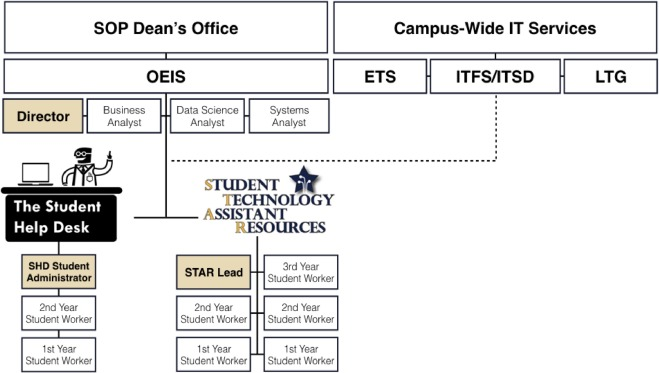 Development of a student-driven information technology support