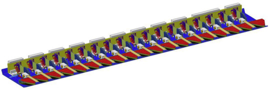 Design a new cutter-bar mechanism with flexible blades and