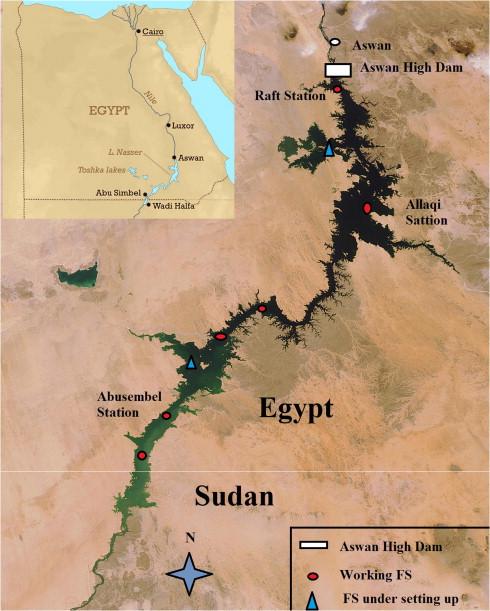 Evaporation estimation for Lake Nasser based on remote