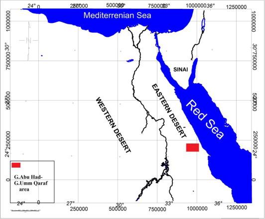 Utilization Of Airborne Gamma Ray Spectrometric Data For - Map of egypt eastern desert