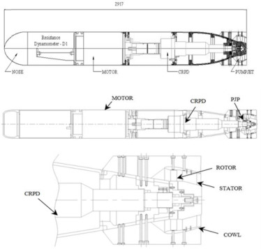 Performance evaluation of an underwater body and pumpjet by