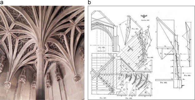 A Gothic Ribbed Vault B The Web Of Is Cut Into Strips Which Are Analyzed As 2D Arches Wolfe 1921