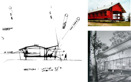 Exhibits Sustaining The Ecology Sensitivity To Local Landscape And Particulars Of Site Left Murcutts Sketch Relating Building