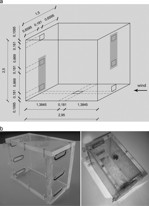 (a) Dimensions Of The Building Form (three Dimensional Space), (b)  Experimental Model Made Of Plexiglass.