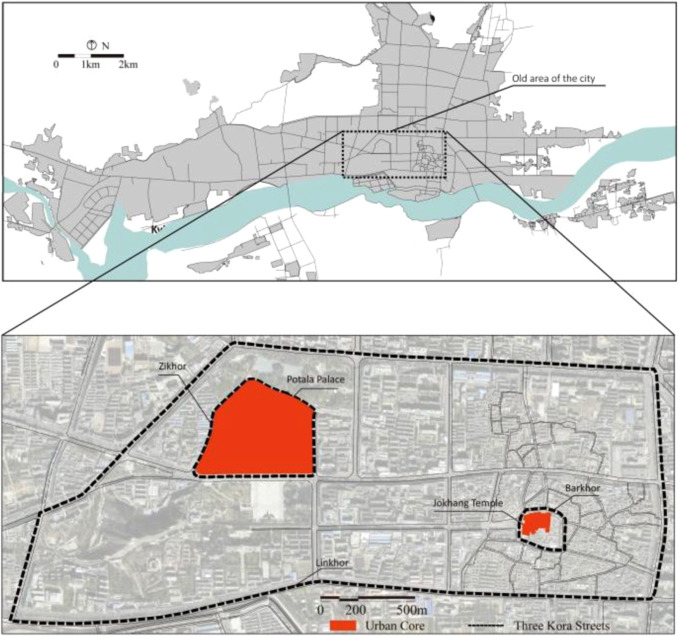 Typology of religious spaces in the urban historical area of