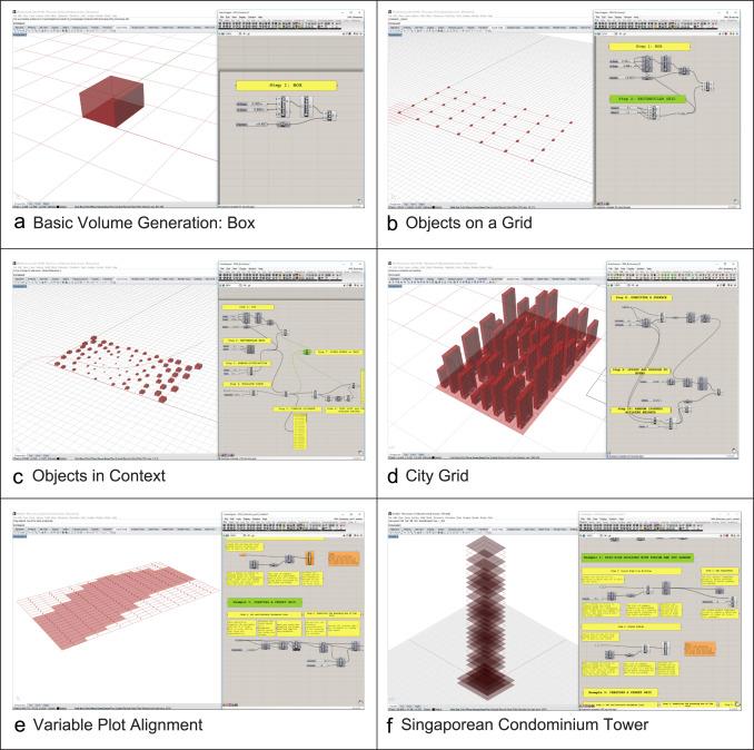 The 'Urban Elements' method for teaching parametric urban