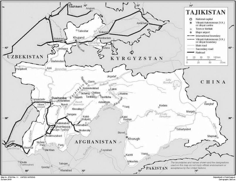 the tajikistan railways source httpwwwunorgdeptscartographicmapprofiletajikistpdf rail enhanced