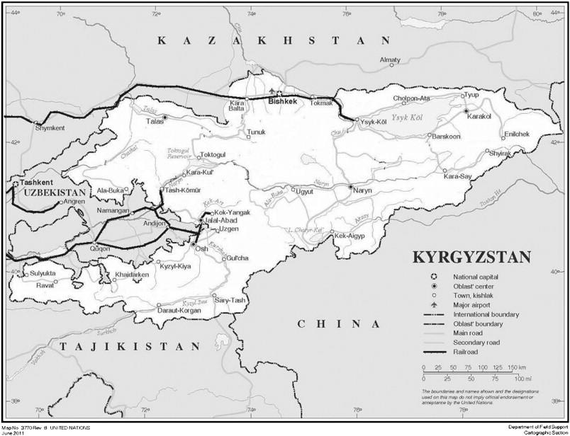 the kyrgyz railways source httpwwwunorgdeptscartographicmapprofilekyrgystapdf railways enhanced