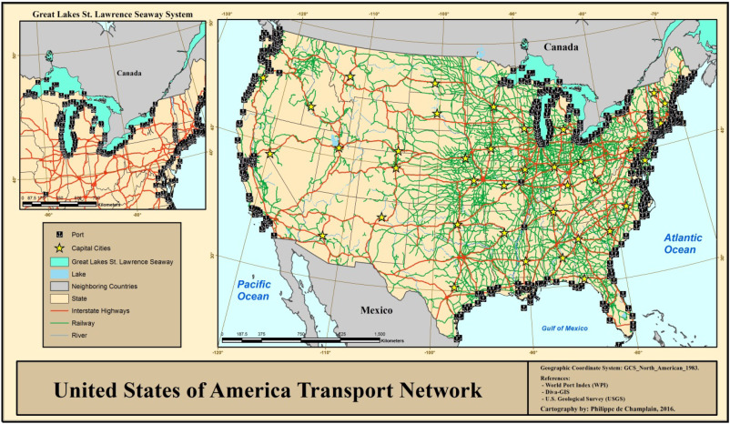 Rail And Road Freight Transport Network Efficiency Of Canada