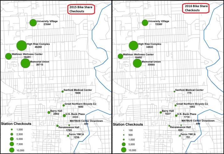 Ndsu Campus Map Pdf.Bike Share In Fargo North Dakota Keys To Success And Factors