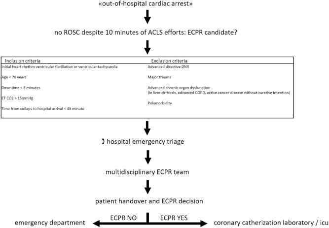 ECPR in a tertiary care hospital: Presentation of challenges