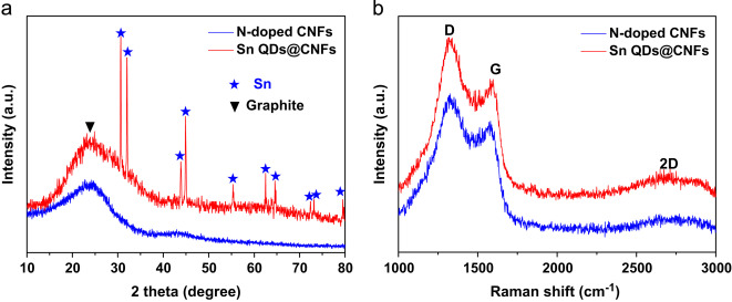 Tin Quantum Dots Embedded In Nitrogen Doped Carbon Nanofibers As