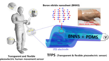 Transparent and flexible piezoelectric sensor for detecting